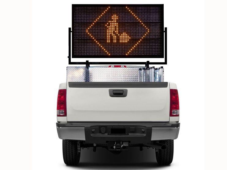 Panel-de-mensajería-variable-portatil-camión